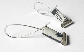 Ohrhänger mit Porzellanrohr