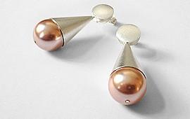 Perlenohrstecker – Rosafarbene Perle
