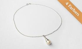 Halsschmuck – Perlen in 4 Farben