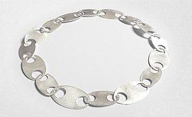 Kette – Große ovale Silberplatten