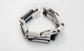 Armband –  Porzellanrohr