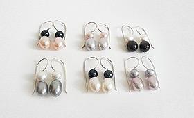 Orhänger – Perlen bicolour