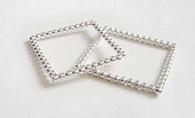 Quadratische Ringe – Perldraht